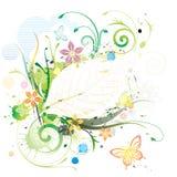 Cor de água floral Imagem de Stock