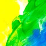 Cor de óleo abstrata multicolored ilustração royalty free