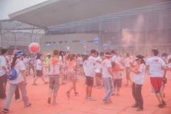 Cor de Chongqing Exhibition Center corrida em jovens Imagem de Stock