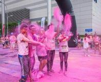 Cor de Chongqing Exhibition Center corrida em jovens Fotos de Stock