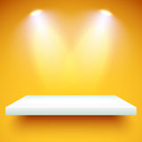 Cor de iluminação da prateleira Foto de Stock