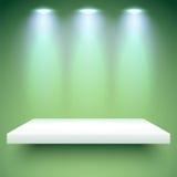 Cor de iluminação da prateleira Fotos de Stock Royalty Free