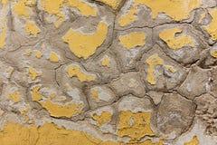 Cor de lasca velha em uma parede Fotos de Stock Royalty Free