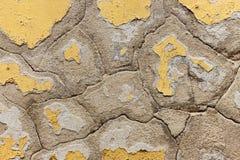 Cor de lasca velha em uma parede Fotos de Stock