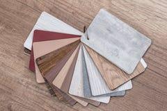 Cor de madeira da amostra fotografia de stock royalty free