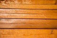 Cor de madeira do marrom do fundo horizontal Fotografia de Stock Royalty Free