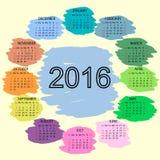 A cor de ponto cobre o ano novo do calendário 2016 Imagens de Stock
