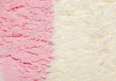 Cor-de-rosa branca do gelado imagens de stock