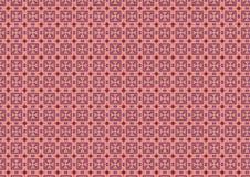 A cor-de-rosa Chequered esquadra o teste padrão Fotos de Stock Royalty Free