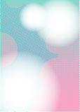 Cor-de-rosa ciana do RUÍDO A4 dos pontos Imagens de Stock