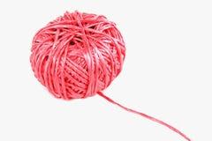 Cor-de-rosa da esfera da corda Fotos de Stock