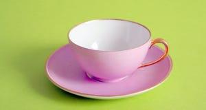 Cor-de-rosa da porcelana do copo imagens de stock