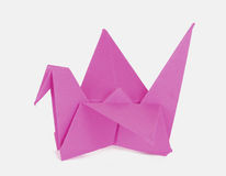 Cor-de-rosa de Origami Imagens de Stock