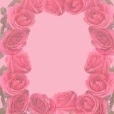 A cor-de-rosa desvaneceu-se as rosas que scapbooking a página Imagens de Stock