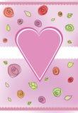 Cor-de-rosa do coração ilustração stock