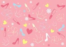 Cor-de-rosa do encanto do fundo Imagens de Stock