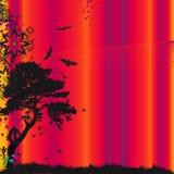 Cor-de-rosa do por do sol ilustração do vetor
