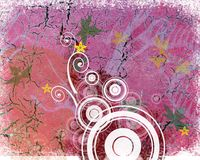 Cor-de-rosa do projeto de Grunge ilustração royalty free