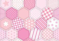 Cor-de-rosa do quilt dos retalhos Foto de Stock Royalty Free