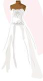 Cor-de-rosa do vestido de casamento Imagem de Stock Royalty Free