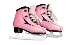 Cor-de-rosa dos patins das mulheres isolada Fotografia de Stock Royalty Free