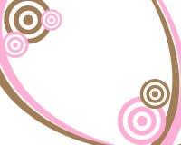 Cor-de-rosa e frame do círculo de Brown Imagem de Stock