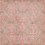 Cor-de-rosa e fundo sujo da flor do vintage de Brown fotografia de stock royalty free