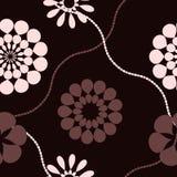 Cor-de-rosa e marrom retros Ilustração do Vetor