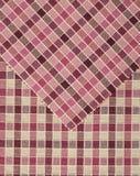 Cor-de-rosa e teste padrão vichy vermelho. Imagem de Stock Royalty Free