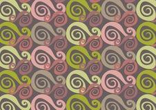 Cor-de-rosa e verde de Whirly ilustração royalty free