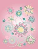 Cor-de-rosa floral do fundo ilustração royalty free