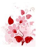 Cor-de-rosa floral do fundo de Grunge ilustração do vetor