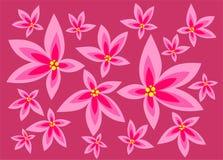 A cor-de-rosa floresce o fundo ilustração stock