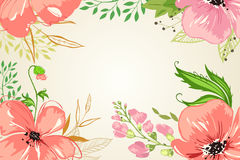 A cor-de-rosa floresce o fundo _1 Foto de Stock Royalty Free