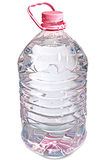Cor-de-rosa isolada frasco de cinco litros da água Imagem de Stock