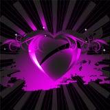 Cor-de-rosa ornamentado do fundo do coração Imagens de Stock Royalty Free