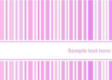 A cor-de-rosa Pastel listra o cartão Fotografia de Stock Royalty Free