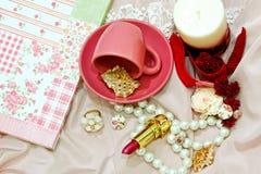 Cor-de-rosa retro fotografia de stock royalty free