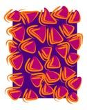 Cor-de-rosa retro do fundo dos testes padrões Fotos de Stock
