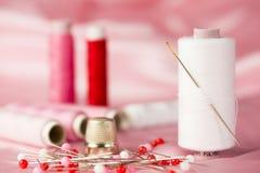 Cor-de-rosa Sewing Imagem de Stock