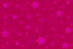 A cor-de-rosa stars o teste padrão do fundo Foto de Stock Royalty Free