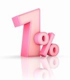 Cor-de-rosa um por cento Foto de Stock Royalty Free