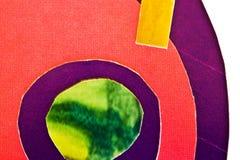Cor-de-rosa, verde, papel azul do yellowand fotografia de stock