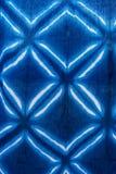 Cor de tingidura do índigo do batik do laço do batik do laço ou cor do mauhom na tela fotos de stock royalty free