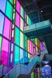 Cor de vidro interna em DES Congrès de Montréal de Palais Fotografia de Stock Royalty Free
