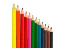 A cor desenha lápis foto de stock royalty free