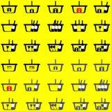 Cor diferente da cesta - ícones ajustados Fotografia de Stock