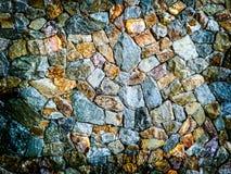 Cor diferente do fundo da parede de pedra do granito Imagem de Stock