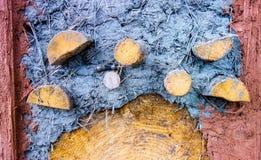 Cor diferente do mixure da argila e da areia com junco Fotografia de Stock