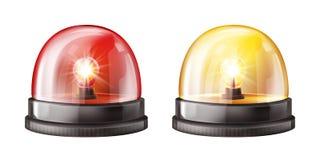 A cor do alarme da sirene ilumina a ilustração do vetor 3D ilustração royalty free